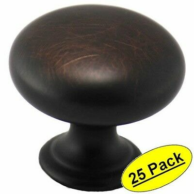 *25 Pack* Cosmas Cabinet Hardware Oil Rubbed Bronze Round Knobs #4950ORB