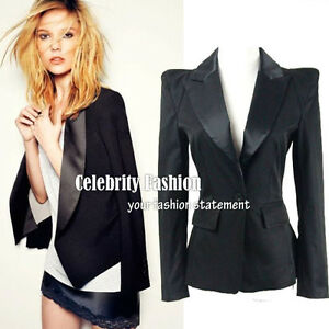 bb3-Celebrity-Style-STRONG-SHOULDER-Padded-Black-Tuxedo-Boyfriend-Blazer-Jacket