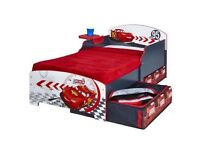 Lightning McQueen Toddler Bed with Storage