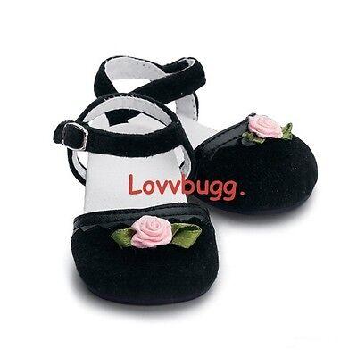 """My Twinn Black Velvet Shoes for 23"""" Girl Doll"""