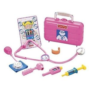 FISHER-PRICE-PINK-MEDICAL-KIT-DOCTORS-PLAY-SET-NEW