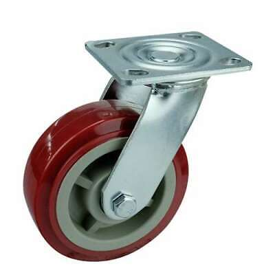 6 Inch Caster Wheel 617 Pounds Swivel Polyurethane Top Plate