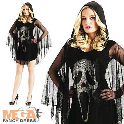 Scream Poncho Dress Ladies Fancy Dress Halloween Horror Adults Costume Outfit - Scream Outfit Halloween
