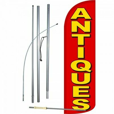 Antiques Flag Kit 3 Wide Windless Swooper Feather Advertising Sign