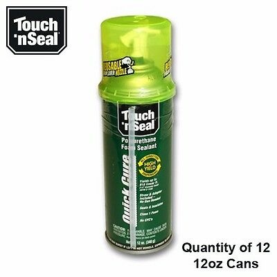 Touch N Seal Quick Cure Straw Can Foam - 1 Case 1212oz Cans - 4004521212-12