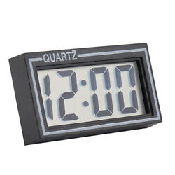 Desk Small Clocks Date Time Calendar Digital LCD Screen Table Auto Car Dashboard