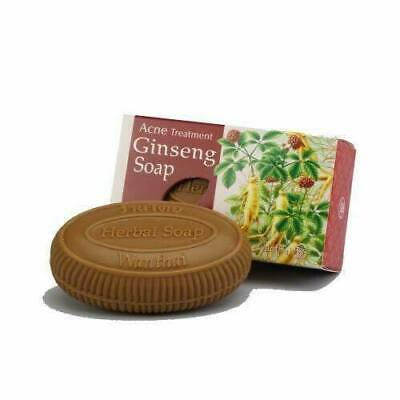 WANTHAI Acne Treatment Ginseng Soap For Normal Oily Skin Best Reduce Acne 80