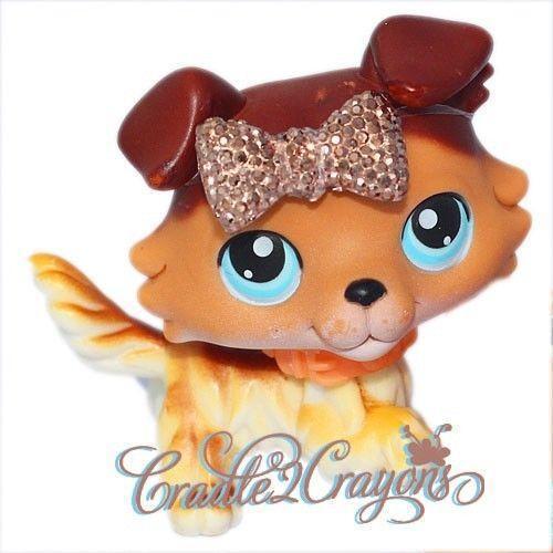 littlest pet shop chocolate collie ebay