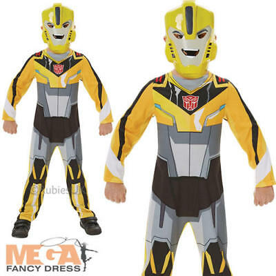 Transformers Bumble Bee Boys Fancy Dress Superhero Kids Childs Movie Costume New - Bumble Bee Costume For Boys