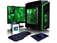 Brand new Vibox Gaming PC 54.61 cm LED Desktop PC - (Green)