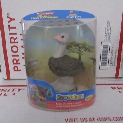 Fisher Price Little People Animal Sounds Zoo - 2011 Fisher Price Little People Zoo Talkers OSTRICH with Animal Sounds SEALED