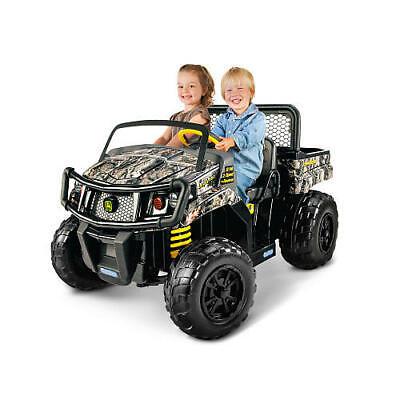 12V Battery John Deere Gator XUV Adjustable Seat RideOn Vehicle Kid Child Unisex