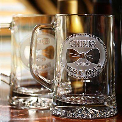 Bowtie Groomsmen Gift Ideas, Best Man Beer Mugs Set of 7 (Best Groomsmen Gift Ideas)