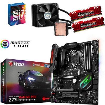Bundle Intel Core i7 7700K+4x@4,80GHz-MSI Z270 Gaming Pro-16GB PC2400-Seidon