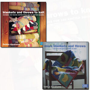 Debbie Abrahams Blankets and Throws to Knit Collection C&B Crafts 2 Book Set NEW