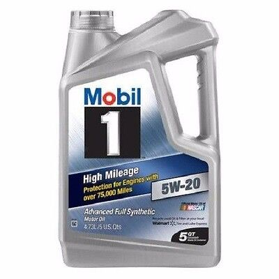 (Mobil 1 5W-20 High Mileage Advanced Full Synthetic Motor Oil, 5 qt.)