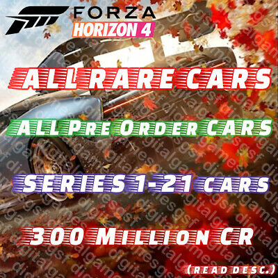 Forza Horizon 4 ALL RARE CARS, 300Million CR, Series 21 (read Desc!) XBOX,PC
