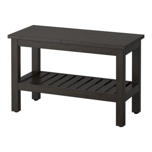 IKEA HEMNES Bench - Black/Brown