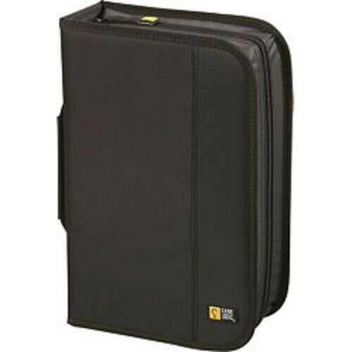 Case Logic CDW-92 Black Nylon CD Wallet-Holds 92 CD