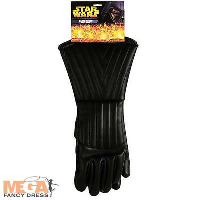 Darth Vader Costume Accessories (Darth Vader Mens Black Gloves Star Wars Fancy Dress Adult Costume Accessory)
