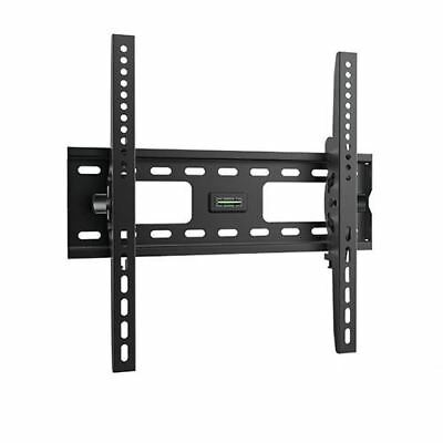 "Brateck 32""-55""75kg/165lbs Curved & Flat Panel TV Tilting Black Steel Wall Mount"