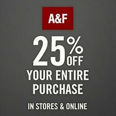 Abercrombie coupon code 25% OFF $75 or more  Sale clearance exp 7/31/2020
