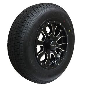 ST205 75 R15 - TRAILER TIRES on ALUMINUM RIM - CLENTEC