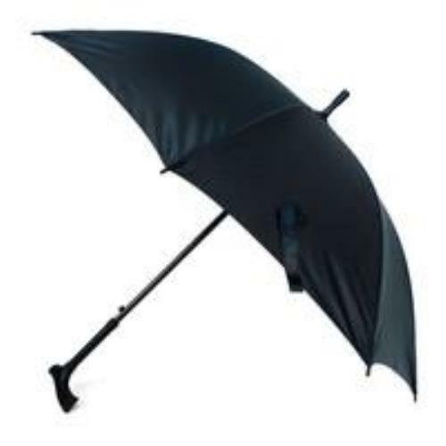 Black Canopy Walking Cane Umbrella-