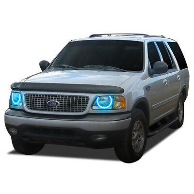 Brightest White LED Halo Ring Headlight Fog Light Kit for Ford Explorer 02-05 RF