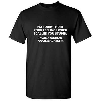 Stupid Knew Sarcastic Rude Graphic Gift Idea Cool Adult Funny Novelty T -