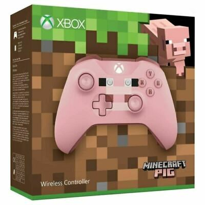 Microsoft Official Xbox One S Wireless Controller Minecraft Pig BRAND NEW