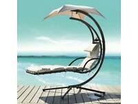 Garden Hanging Chair Seat Sun Lounger Helicopter Outdoor W/Cushion Swing Hammock