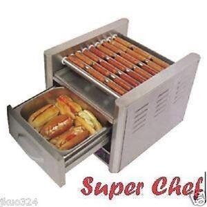 Hot dog machine roller grill with bun warmer 9 rollers - Hot dog roller grill with bun warmer ...