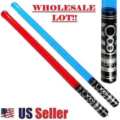 Light Saber Star Wars Look Blow Up Red & Blue Toy Sword New (WHOLESALE BULK LOT) - Bulk Light Up Toys