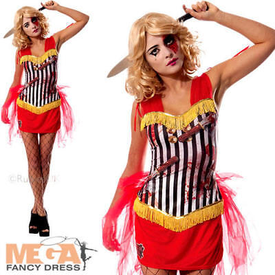 Knife Throwers Assistant Ladies Fancy Dress Circus Horror Adults Costume Outfit