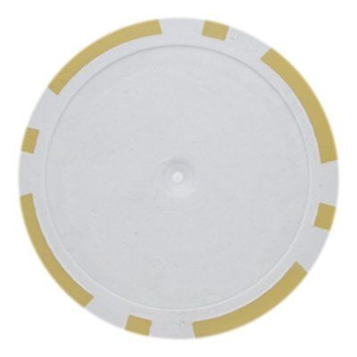 - 8 Stripe Non-Denominated 14g Poker Chips, Yellow Clay Composite, 50-pack