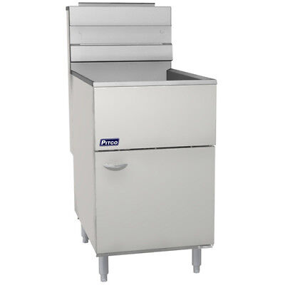 Pitco Frialator 65s Commercial Natural Gas Fryer - Economy 65-80 Lb. Oil Cap.