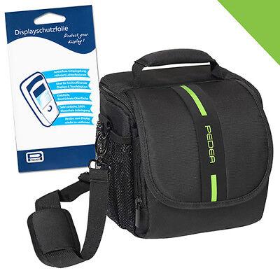 Kamera Tasche M + Folie für Nikon D5300 D3400 D3200 D90 D40 Canon EOS 2000D 5D Canon Eos Taschen