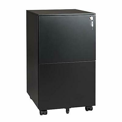 Devaise Vertical File Cabinet With Lock Mobile Filing Cabinet For Legallette...
