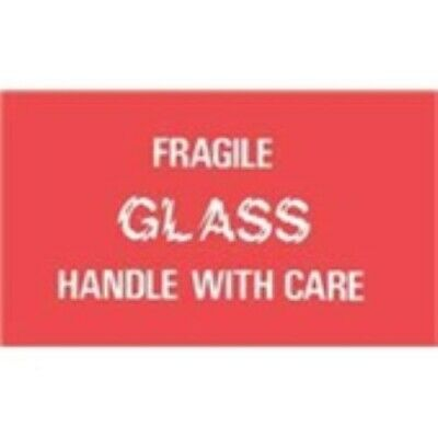 1000 - Dl1150 3x5 Fragile Glass Handle With Care Label