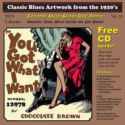 Classic Blues Artwork From The 1920s 2015 CALENDAR + CD NEW SEALED Tommy (Classic Blues Artwork From The 1920s Calendar)