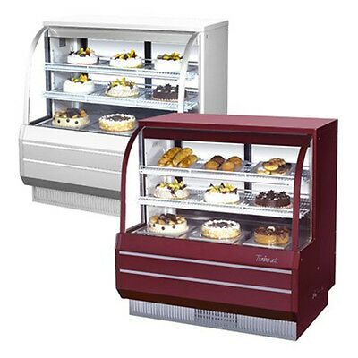 Turbo Air Tcgb-48-dr 48-inch Curved Glass Dry Bakery Display Case 14.85 Cu. Ft