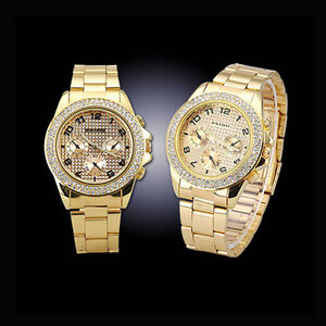 Gold-Band-Gift-Bling-Crystal-Womens-Fashion-Wrist-Watch