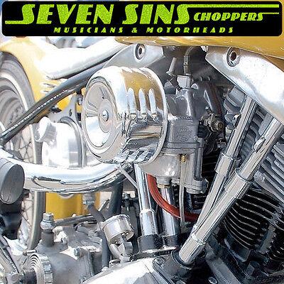 Air Chopper (MOONEYES HOTROD AIR CLEANER LOUVERED CHOPPER SUPER E G MOTORCYCLE CV HARLEY S&S )