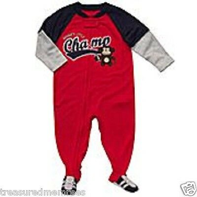 "One Piece Footed Flame Resistant Pajamas Coveralls ~ ""Football Monkey"""