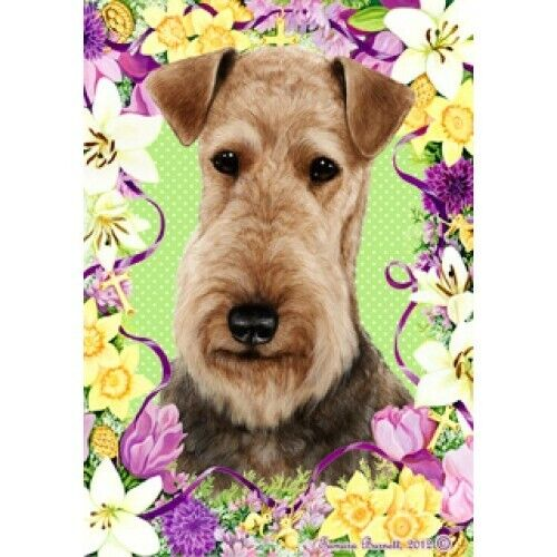 Easter House Flag - Airedale Terrier 33027