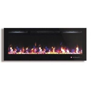 """45"""" Multi Color Fireplace Touch Screen and Remote control"""