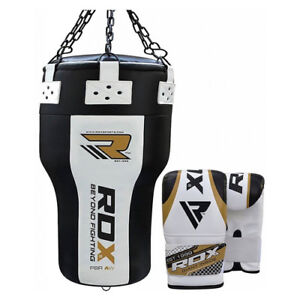 RDX Angle Body Upper Cut Boxing Heavy Filled Punch Bag Muay Thai MMA Gloves OS