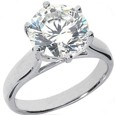 2.01 carat Round Diamond Engagement 14k White Gold Solitaire Ring G color SI1