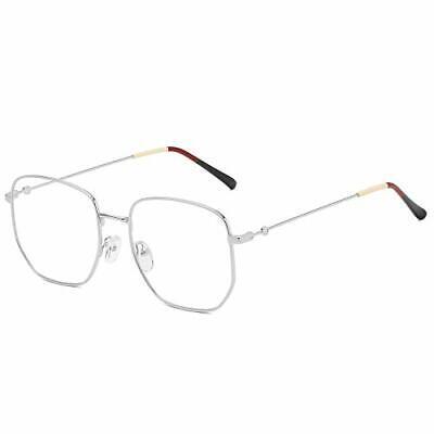 Fake Glasses Clear Lens Non Prescription Metal Frame Eyewear for Men (Fake Non Prescription Glasses)